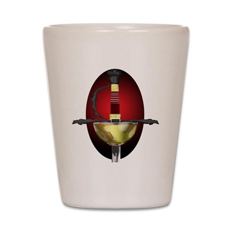 Red Spanish Rapier Shot Glass