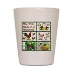 Christmas Birds Shot Glass