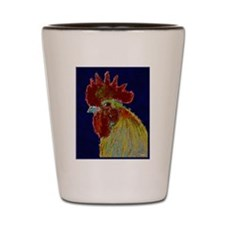 Freestyle Rooster Head Shot Glass