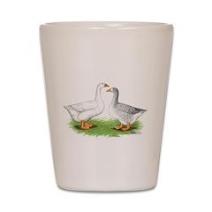 Pilgrim Geese Shot Glass