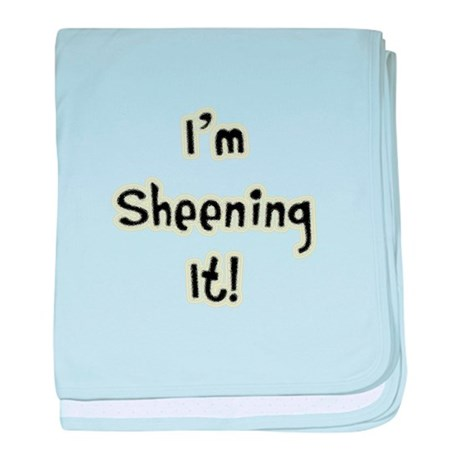 I'm Sheening It! Charlie Sheen baby blanket