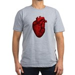 Vintage Anatomical Human Heart Mens Fitted T-Shirt