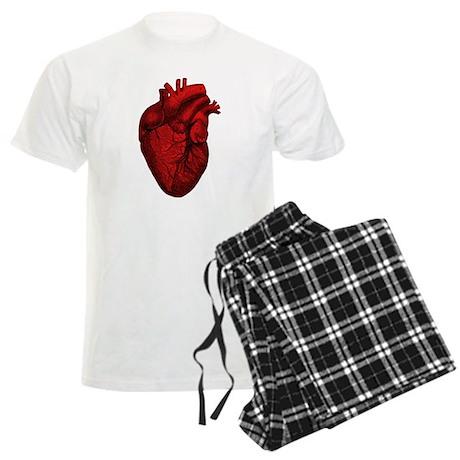 Vintage Anatomical Human Heart Men's Light Pajamas