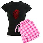 Anatomical Human Heart Women's Dark Pajamas