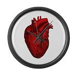 Vintage Anatomical Human Heart Large Wall Clock