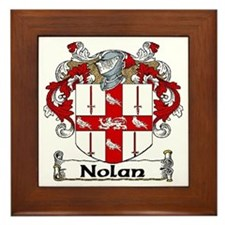 Nolan Coat of Arms Framed Tile