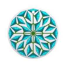 Eclectic Flower 255 Ornament (Round)