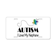 Autism I Love My Nephew Aluminum License Plate