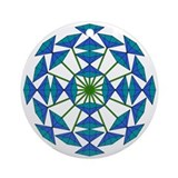 Eclectic Flower 218 Ornament (Round)