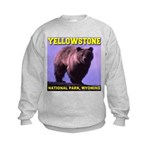 Grizzly Bear YNP Kids Sweatshirt