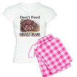 Don't Feed Grizzly Bears Women's Light Pajamas