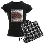 Don't Feed Grizzly Bears Women's Dark Pajamas