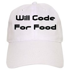 Will Code For Food Baseball Cap