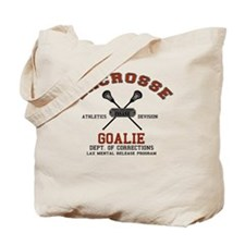 Lacrosse Goalie Tote Bag
