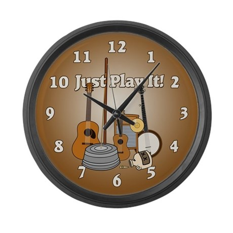 Just Play It! Large Wall Clock
