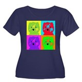Pop Art Westies Women's Plus Size Scoop Neck Dark
