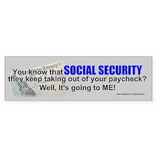 Social Security Bumper Car Sticker