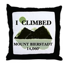 I Climbed Mount Bierstadt Throw Pillow