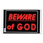 Atheist humor Sticker (Rectangle 50 pk)