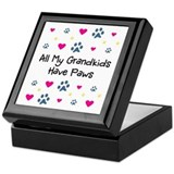 All My Grandkids Have Paws Keepsake Box