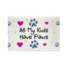 All My Grandkids Have Paws Rectangle Magnet