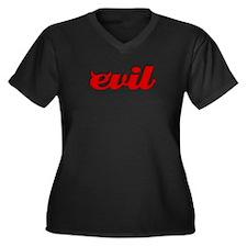 Evil Women's Plus Size V-Neck Dark T-Shirt