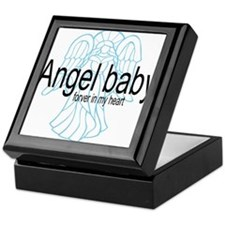 Angel Baby in My Heart Keepsake Box