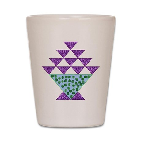 Flower Pot Quilt Pattern Shot Glass