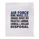 AF Bomb etc. Disposal Throw Blanket