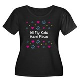 All My Kids/Children Have Paws Womens PlusSz Shirt