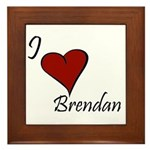 I love Brendan Framed Tile