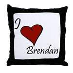 I love Brendan Throw Pillow