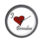 I love Brendan Wall Clock