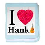 I Love Hank baby blanket