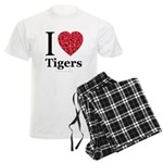 I Love Tigers Men's Light Pajamas