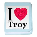 I Love Troy baby blanket