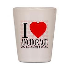 I Love Anchorage, Alaska Shot Glass