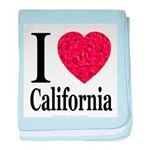 I Love California baby blanket