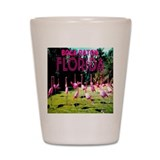 Boca Raton Flock of Flamingos Shot Glass