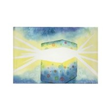 Birthday Box Watercolor Rectangle Magnet