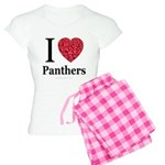 I Love Panthers Women's Light Pajamas