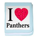 I Love Panthers baby blanket