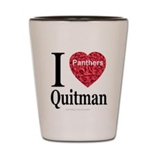 I Love Quitman Panthers Shot Glass