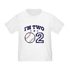 Two Year Old Baseball T