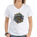 Bluegill Master Women's V-Neck T-Shirt