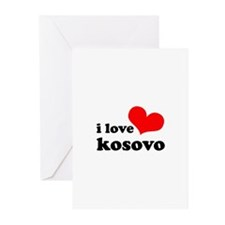 I Love Kosovo Greeting Cards (Pk of 10)