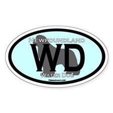 Water Dog (WD) Oval Decal
