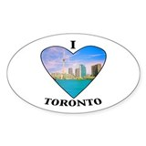 I heart Toronto Oval Decal
