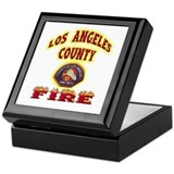 Los Angeles County Fire Keepsake Box