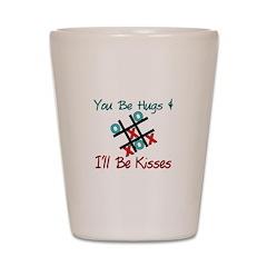 Hugs & Kisses Shot Glass